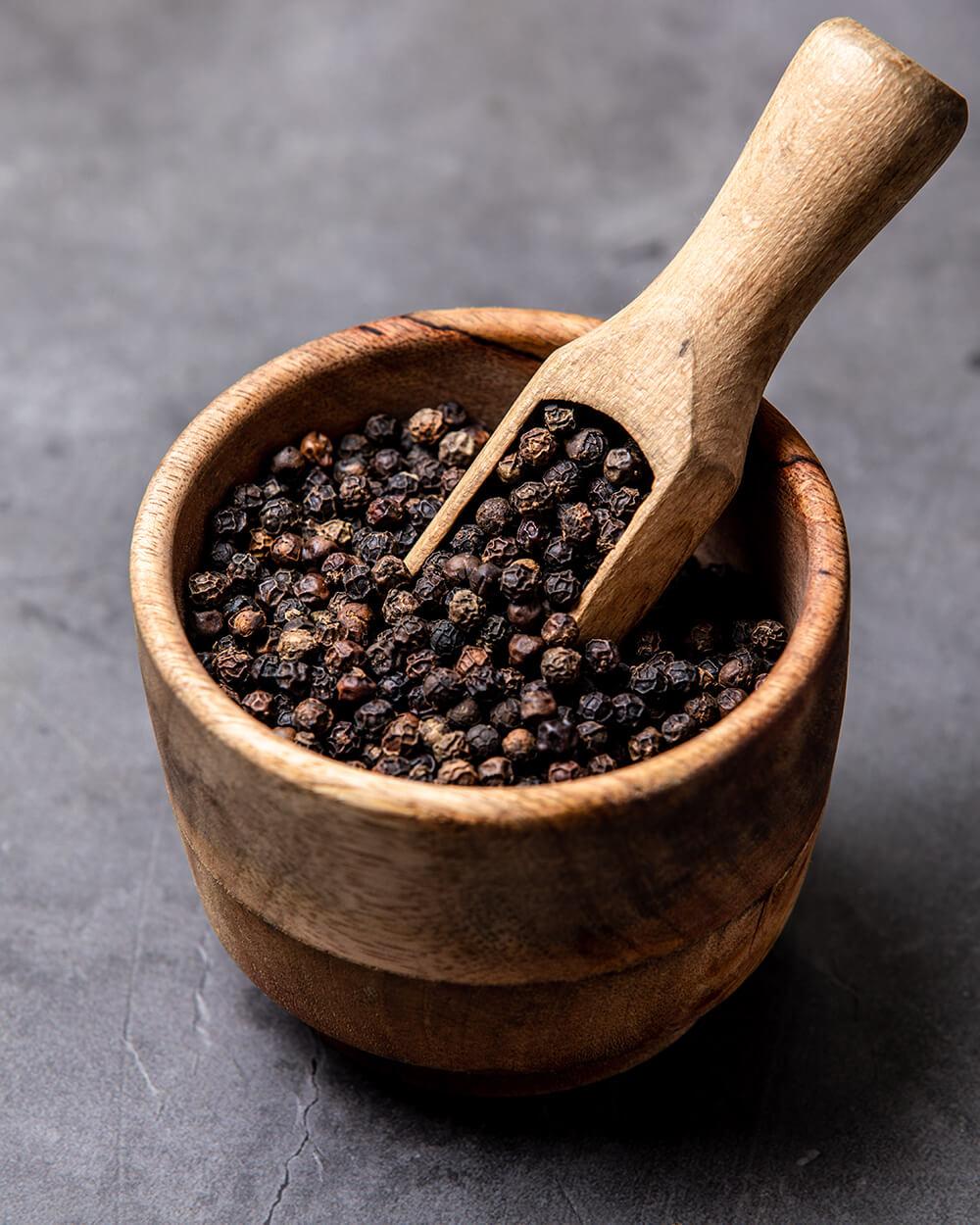 Black pepper, India